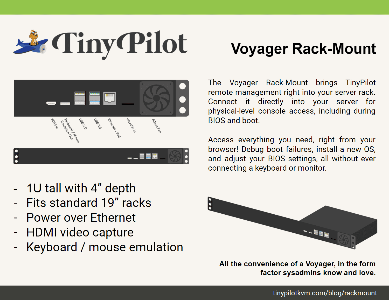 Preview flyer for Voyager Rack-Mount